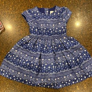 Gymboree Girls blue special occasion dress size 3T
